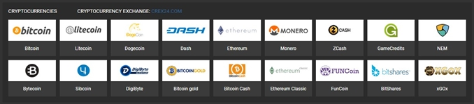 1xbit available crypto currencies