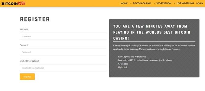 bitcoinrush registration page