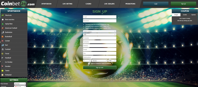 coinbet24 registration page