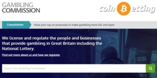 gamblingcommission landing page and coinbetting logo