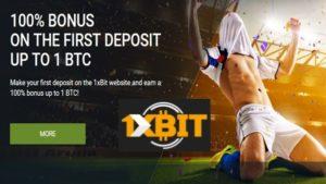 1xbit bitcoin betting site signup bonus of 1 BTC