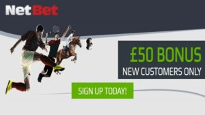 netbet sportsbook £50 welcome bonus offer