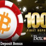 betcoin 100% signup bonus