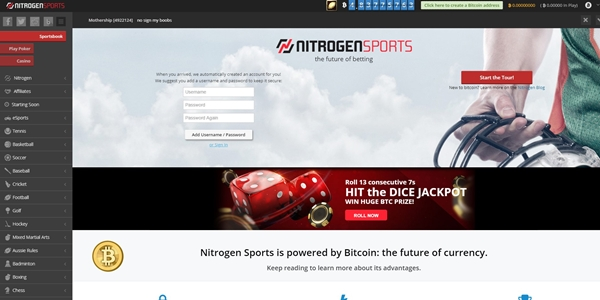 nitrogensports landing page
