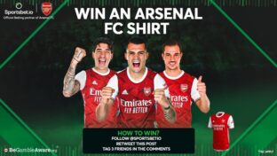 Arsenal FC shirt giveaway by Sportsbet.io