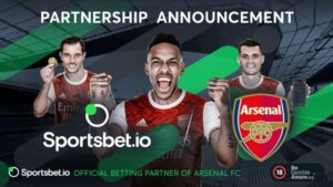 Sportsbet.io Becomes the Betting Partner of Arsenal FC